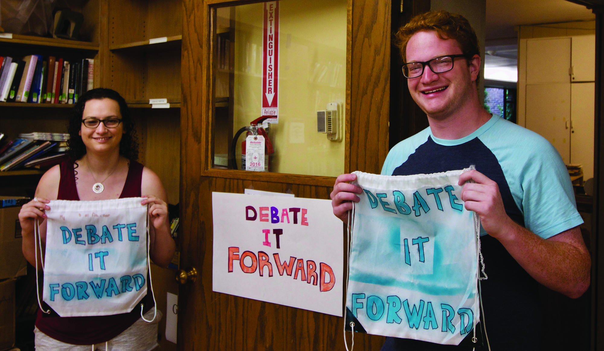 Leah Shapiro and Josh Aaronson of Debate it Forward