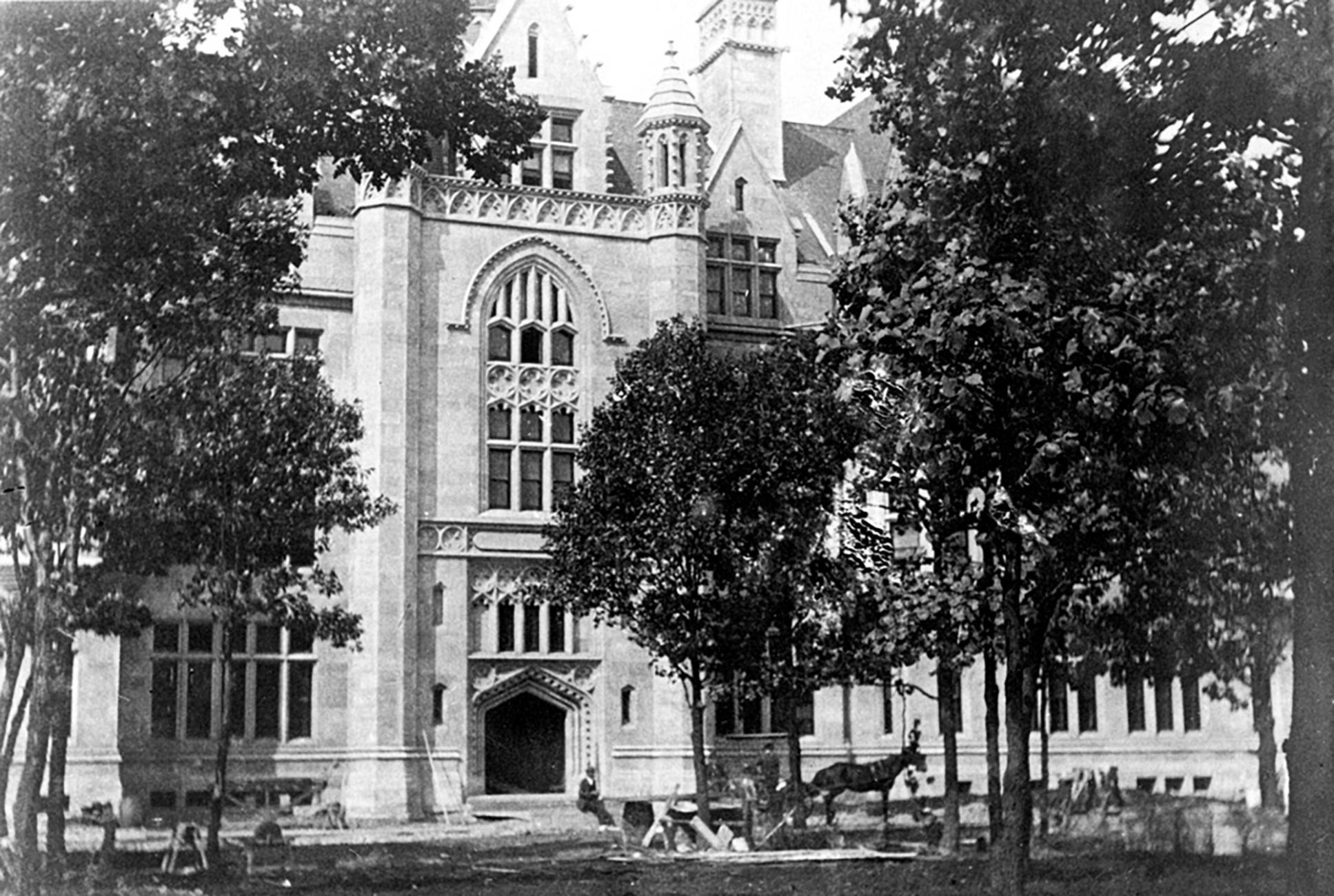 Cobb Hall during construction