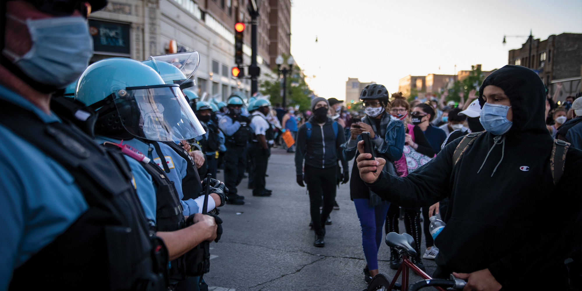 A July 1, 2020, protest in Chicago's Uptown neighborhood