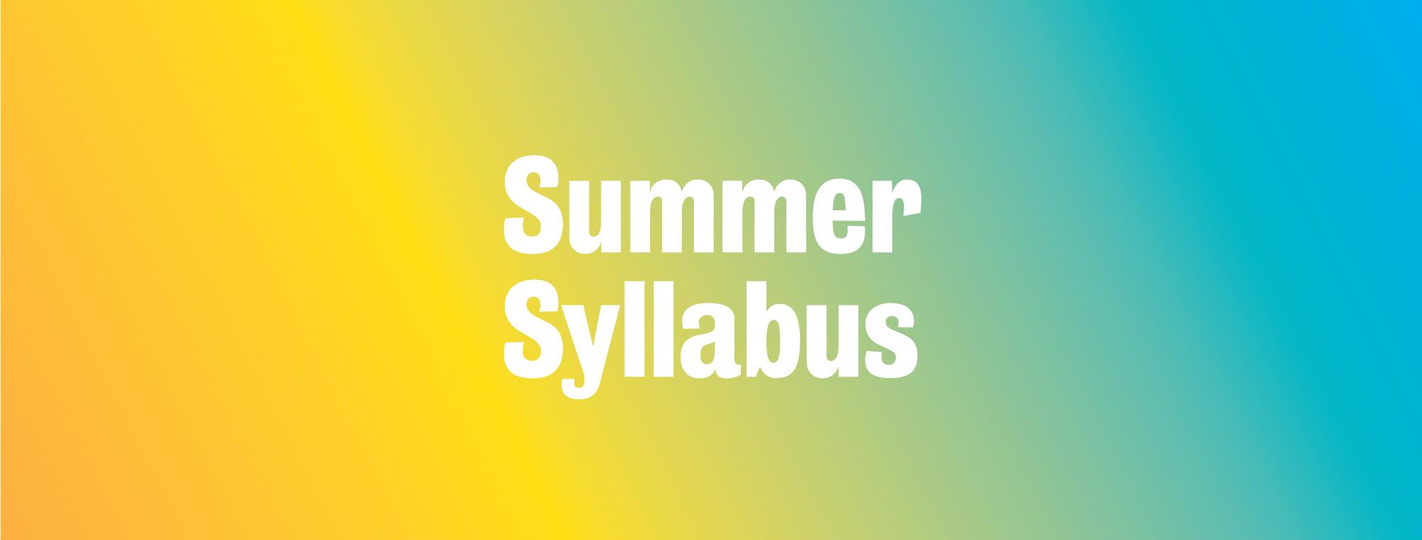 Summer Syllabus 2019