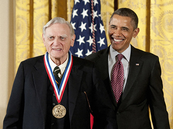 John Goodenough and President Barack Obama