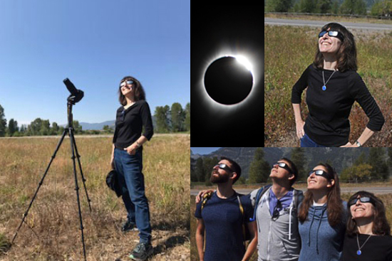 Wendy Freedman views the eclipse