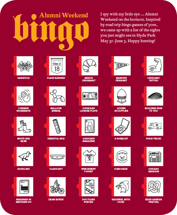Alumni Weekend Bingo