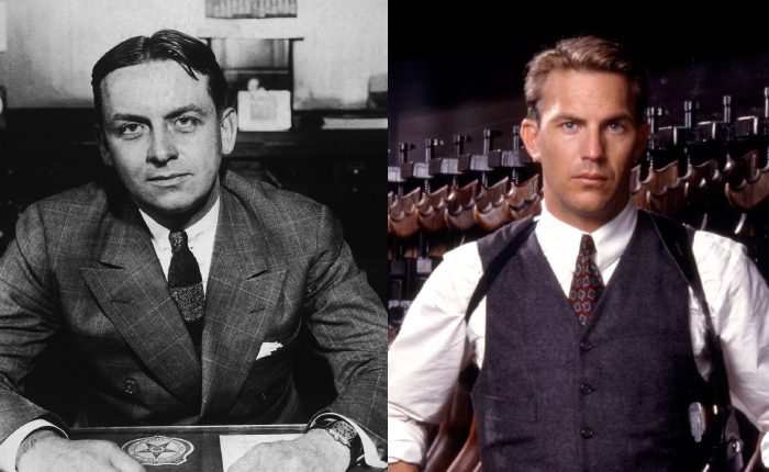 Eliot Ness and Kevin Costner as Eliot Ness