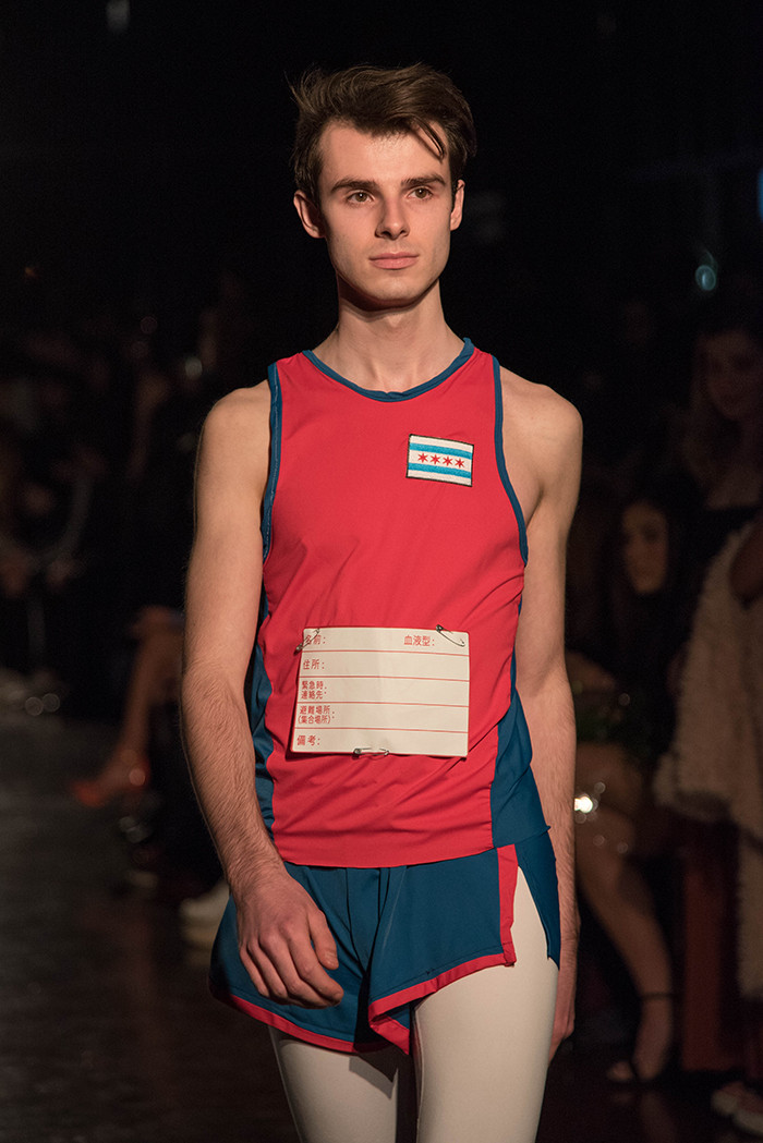 Menswear: track uniform