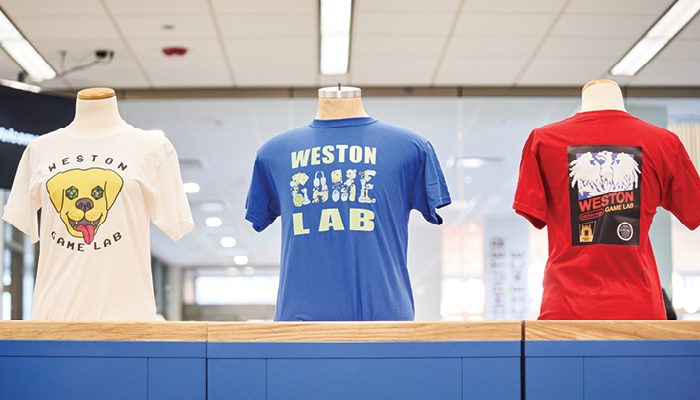 Winners of the Weston Game Lab T-Shirt design contest