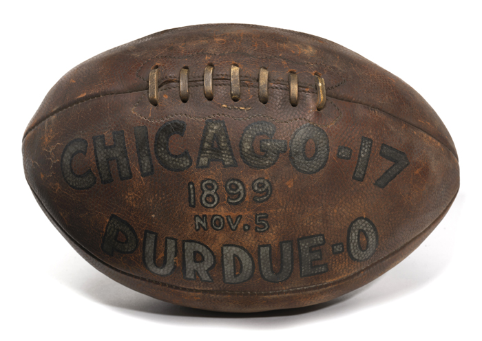 1899 Chicago Maroons game ball
