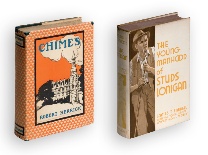Book covers: Chimes and The Young Manhood of Studs Lonigan