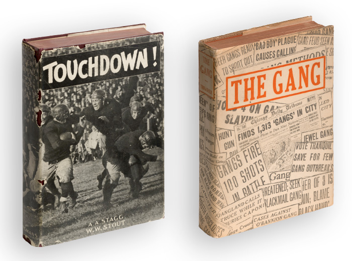 Book covers: Touchdown! and The Gang
