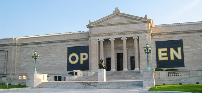 Exterior photo of the Cleveland Museum of Art