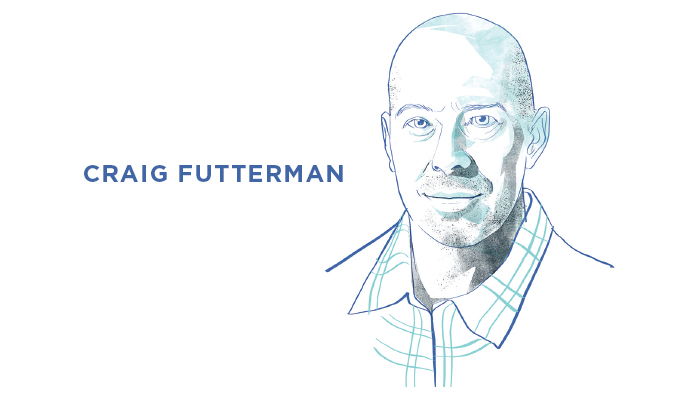 Illustrated portrait of Craig Futterman