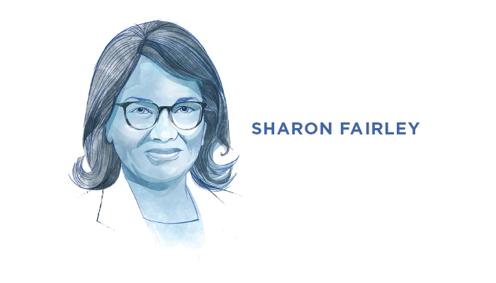 Illustrated portrait of Sharon Fairley