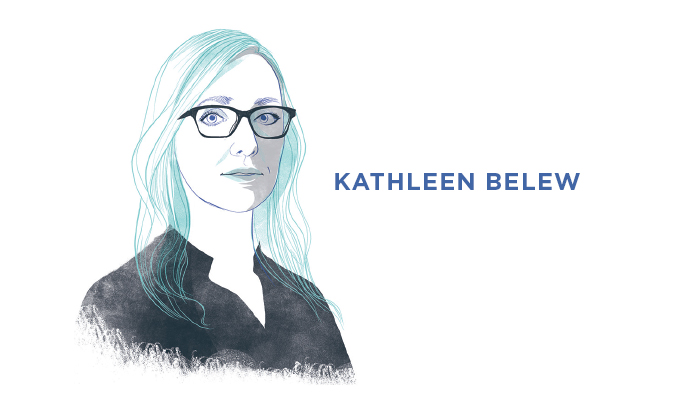 Illustrated portrait of Kathleen Belew