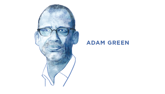 Illustrated portrait of Adam Green