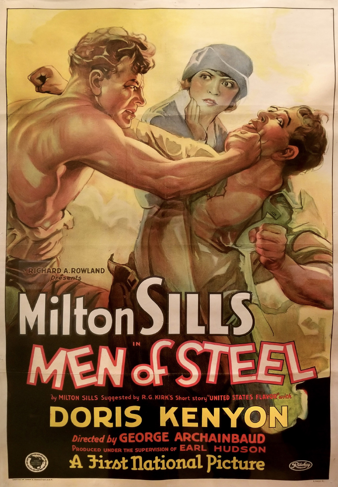 "Movie poster for ""Men of Steel"" (1926)"