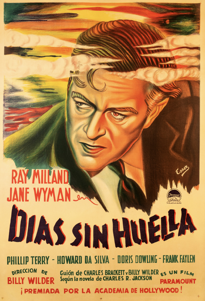An Argentinian poster for The Lost Weekend (1945) by an artist known as Essex.