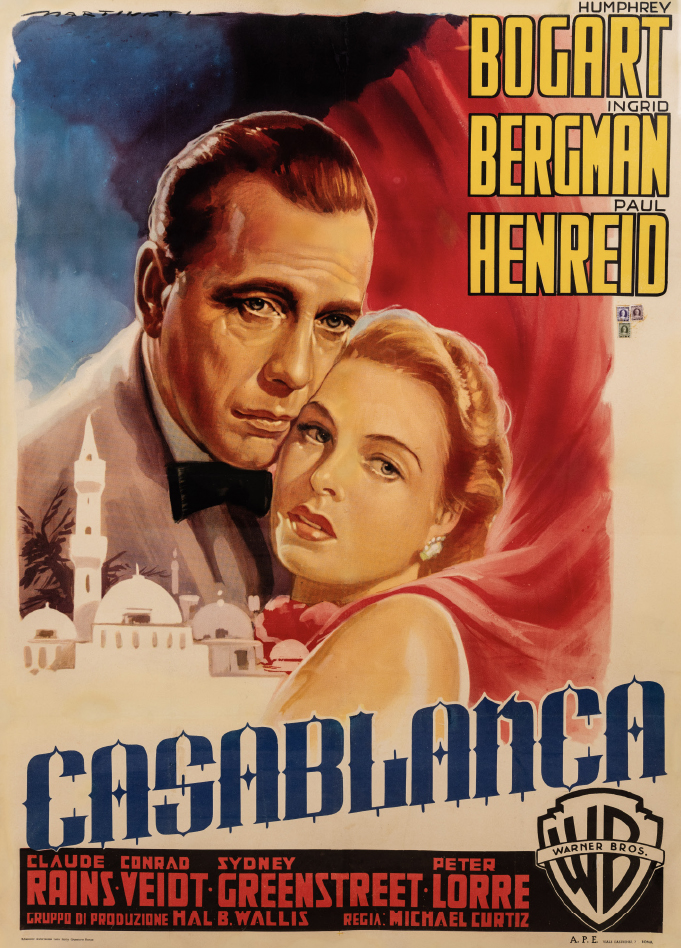 Luigi Martinati's poster for Casablanca (1942)