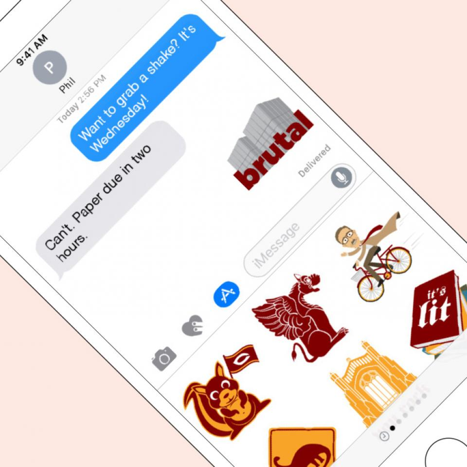 UChicago iMessage stickers app