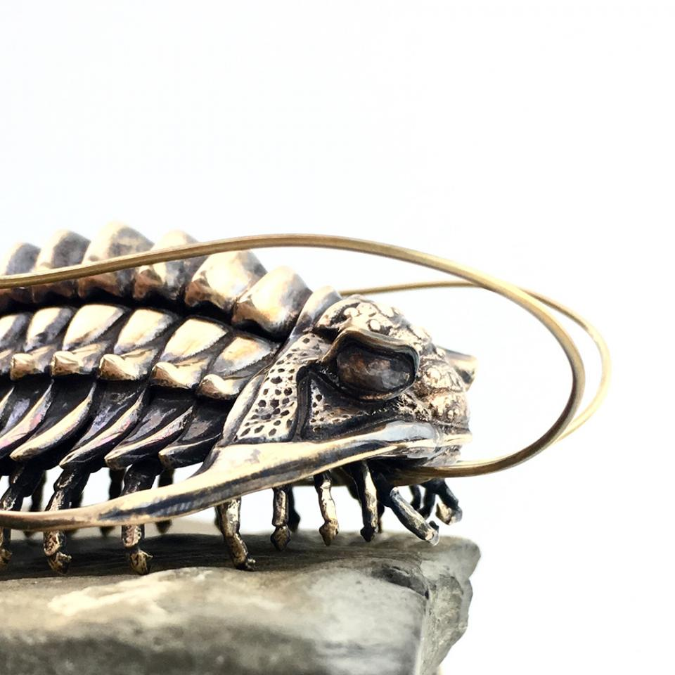 Bronze trilobite sculpture