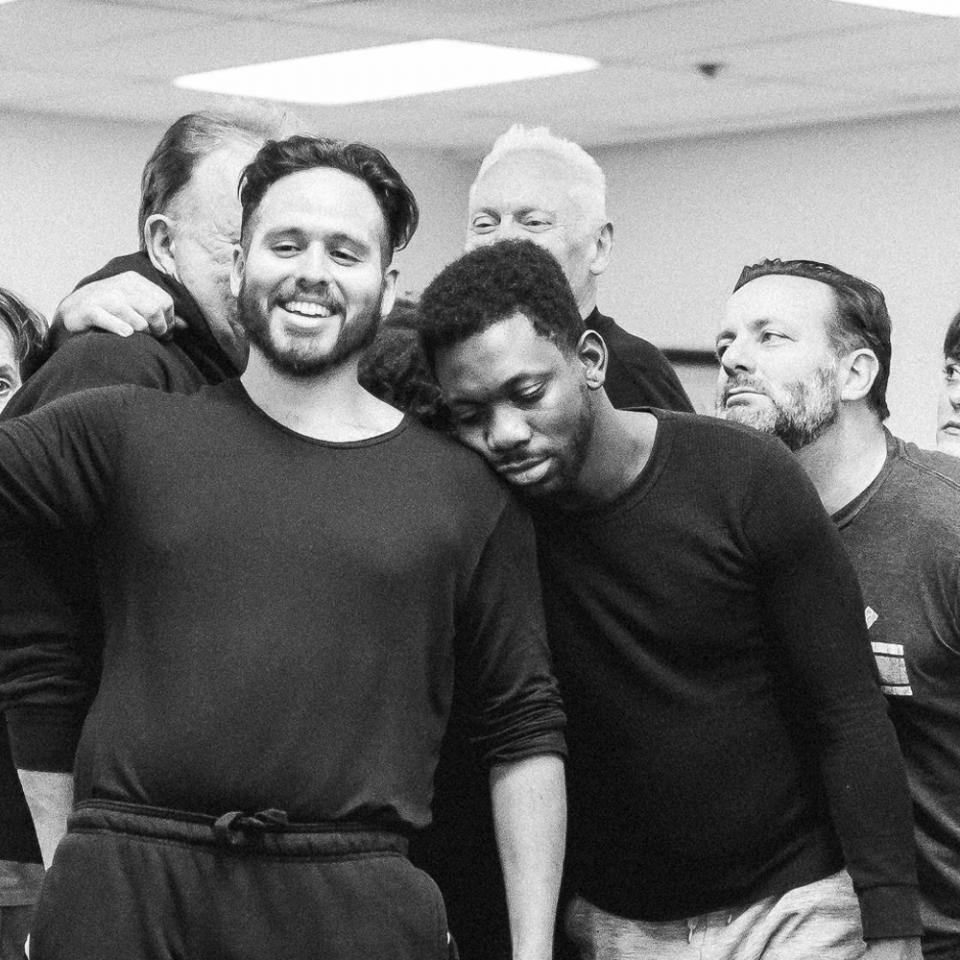 Cast of The Adventures of Augie March in rehearsal
