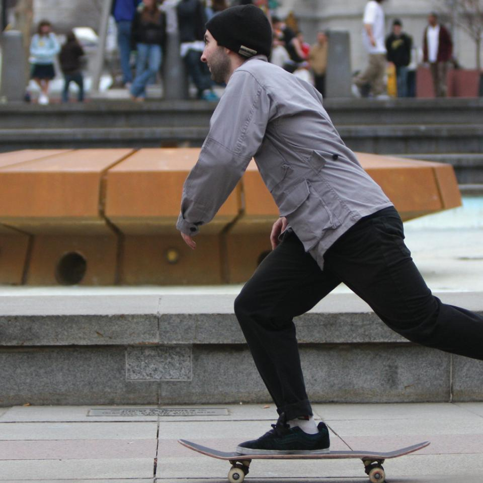Skateboarder in LOVE Park