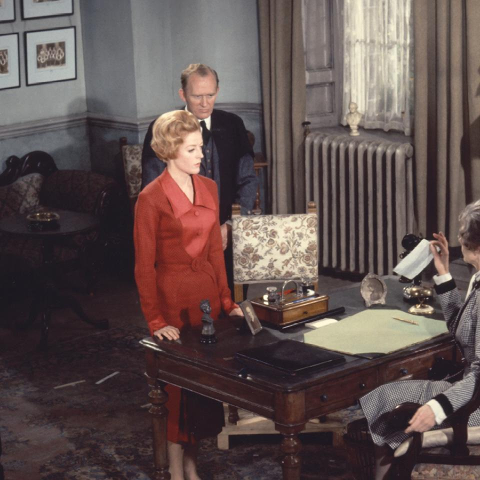 Behind-the-scenes photo of Maggie Smith in The Prime of Miss Jean Brodie