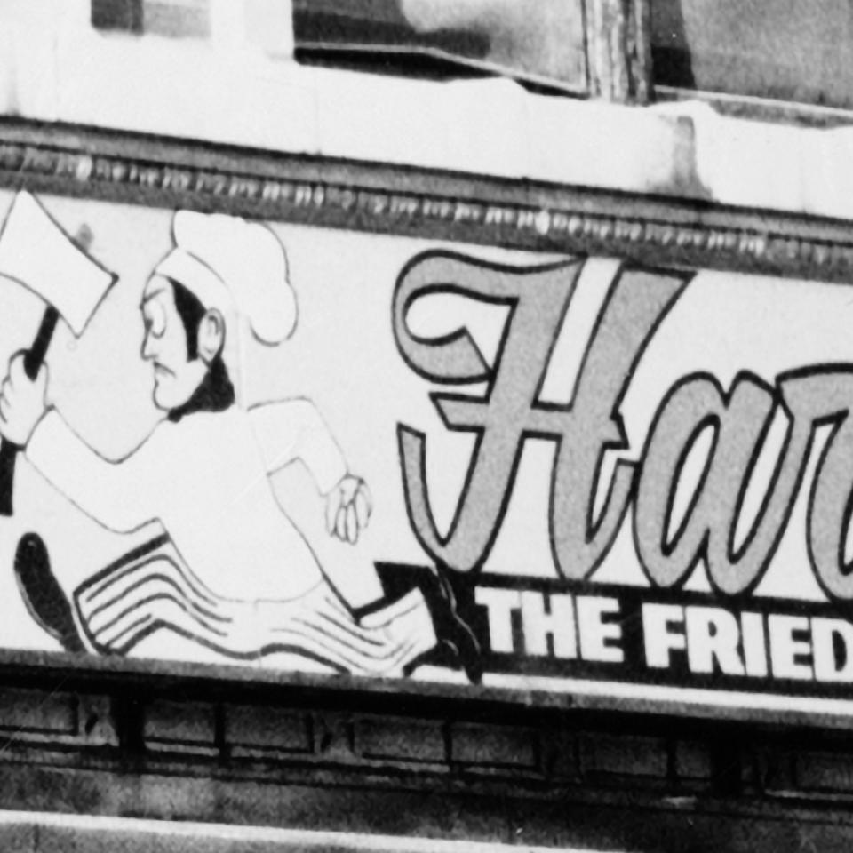 Harold's Fried Chicken sign