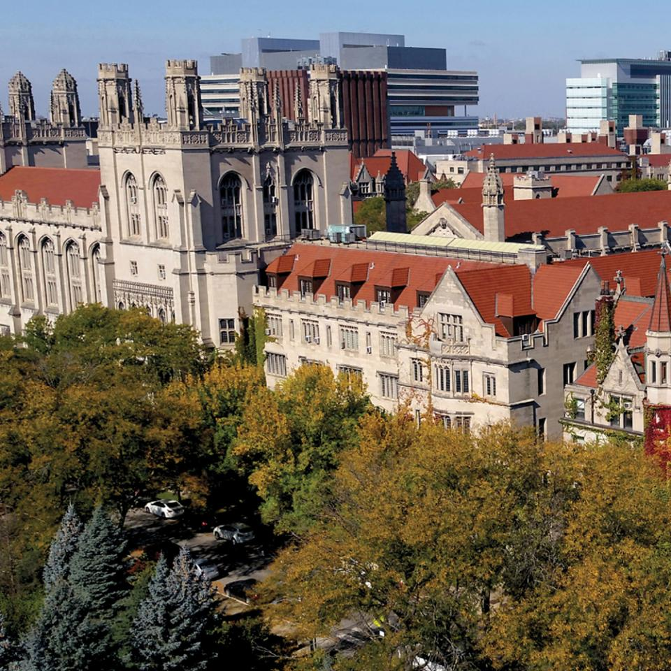 Aerial view of UChicago's Hyde Park campus