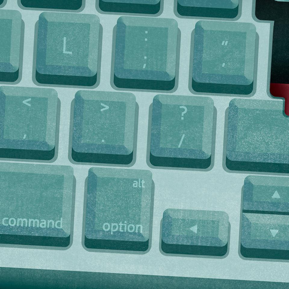 Spy inside a keyboard.